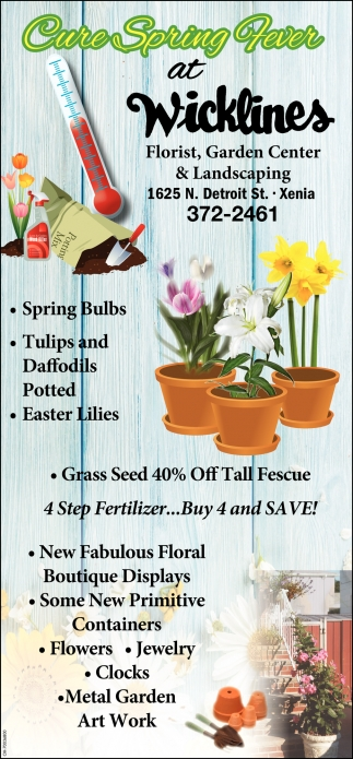Cure Spring Fever at Wicklines