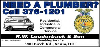Need a Plumber? Call 376-1201