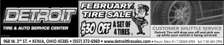 February Tire Sale - 30% Off a Set of 4 Tires