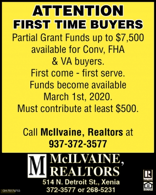 Attention First Time Buyers
