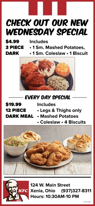 Check out our new wednesday special