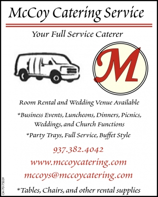 Your Full service Caterer
