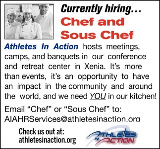 Currently hiring... Chef and Sous Chef