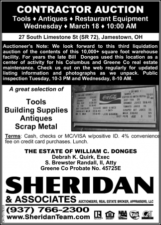 Contractor Auction - March 18