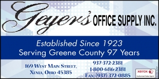 Established since 1923 - Serving Greene County 97 Years
