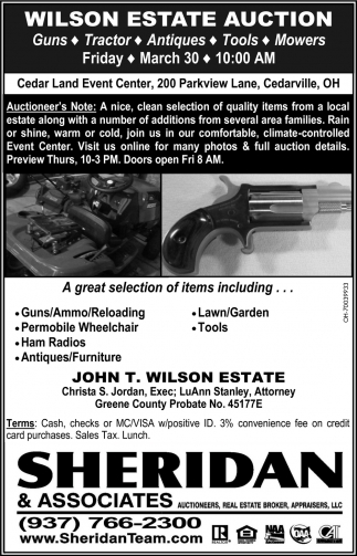 Wilson Estate Auction