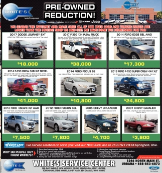Pre-Owned Reduction!