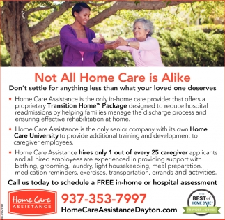 Call us today to schedule a FREE in-home or hospital assessment
