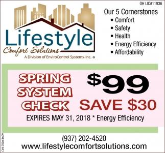 Spring System Check $99