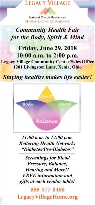 Cmmunity Health Fair for the Body, Spirit & Mind