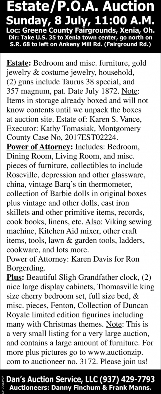 Estate / P.O.A. Auction