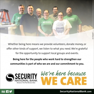 We're here because we care