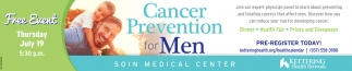 Cancer Prevention for Men