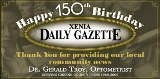 Happy 150th Birthday Xenia Daily Gazette