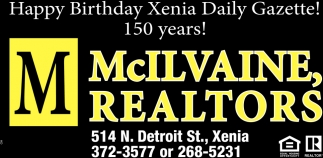 Happy Birthday Xenia Daily Gazette