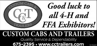 Good luck to all 4-H and FFA Exhibitors!