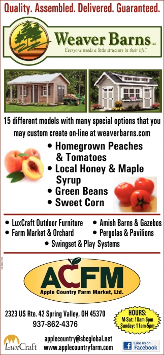 Amish Sheds, Barns, Garages, Homes, Cabins