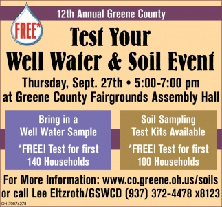 12th Test Your Well Water & Soil Event