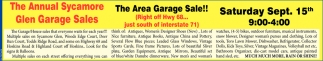 The Area Garage Sale!!