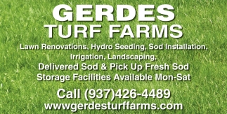 Lawn Renovations, Hydro Seeding, Sod Installation
