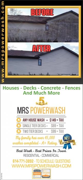 Houses, Decks, Concrete, Fences