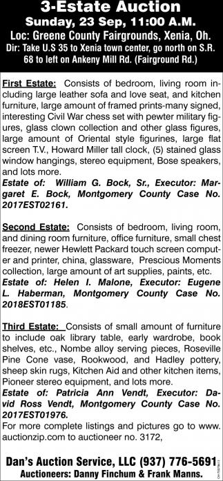 3-Estate Auction