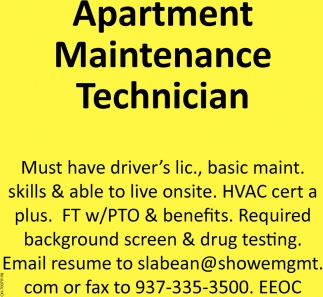 Apartment Maintenance Technician